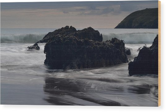 Evening Beenbane Beach Wood Print by Barbara Walsh