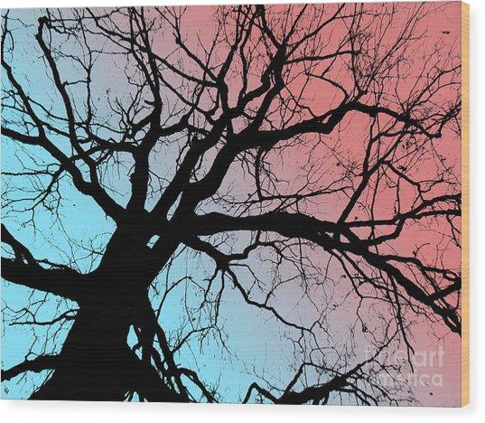 Evening Breaks Wood Print