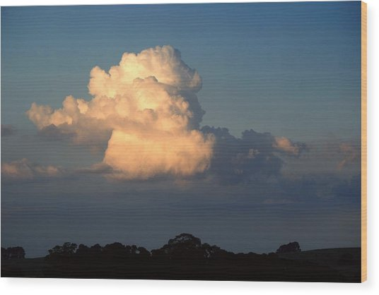 Evening Clouds 2 Wood Print