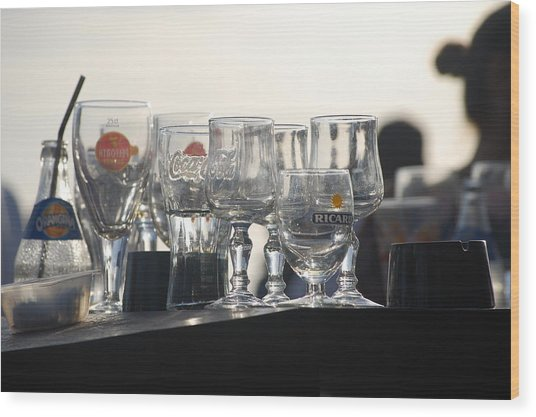 Evening Drinks Wood Print by Dickon Thompson