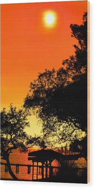 Evening Fire Wood Print by Nicole I Hamilton