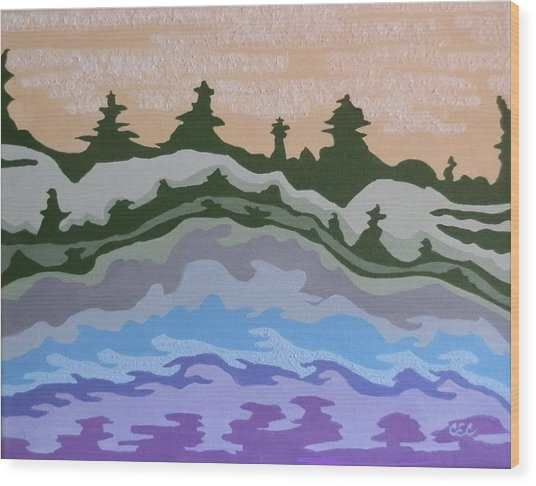 Evening Impressions Wood Print by Carolyn Cable
