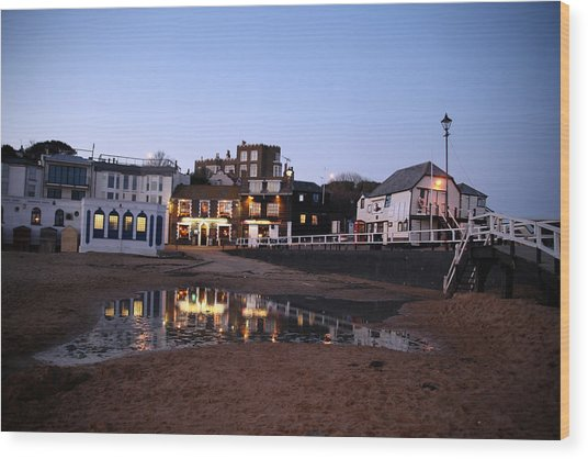 Evening In Broadstairs Wood Print by Jez C Self