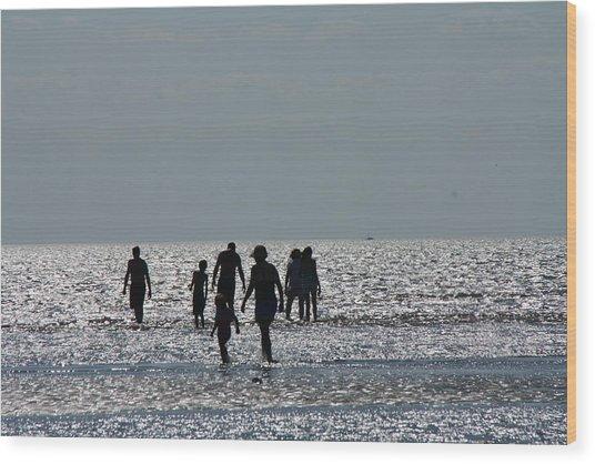 Evening Ocean Stroll Wood Print
