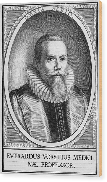 Everardus Vorstius, Dutch Physician Wood Print by Middle Temple Library