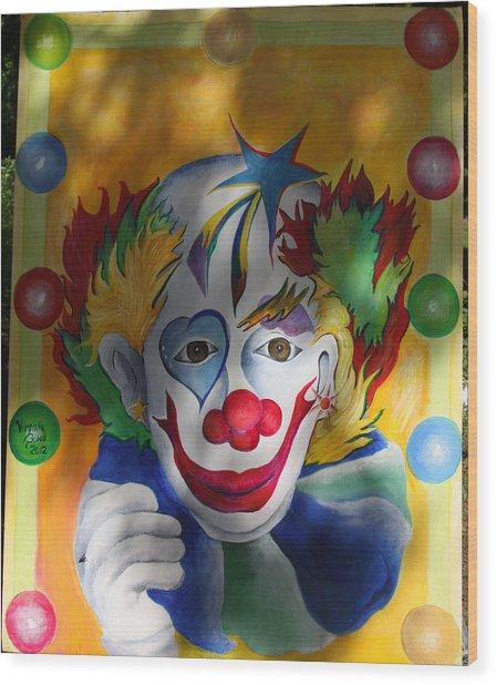 Everybody Loves A Clown Wood Print