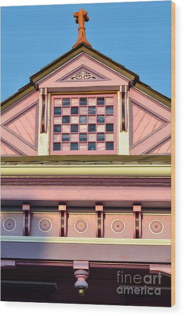 Everything Pink Wood Print by Jeanne  Woods