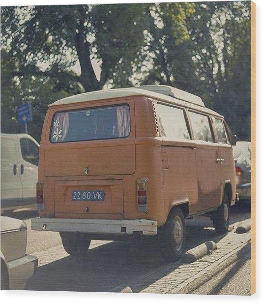Expired Kodak Portra And #vw #bus Wood Print