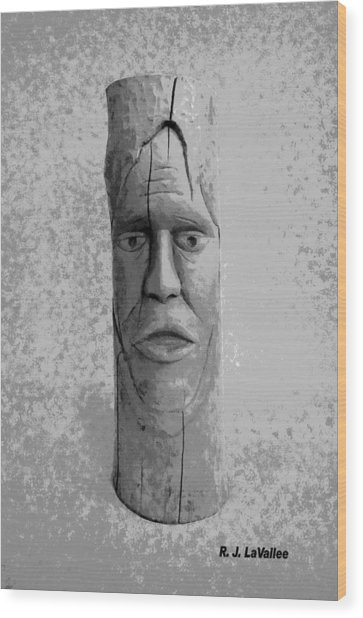 Expression From Within Wood Print