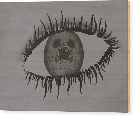 eye Wood Print by Gary Southard