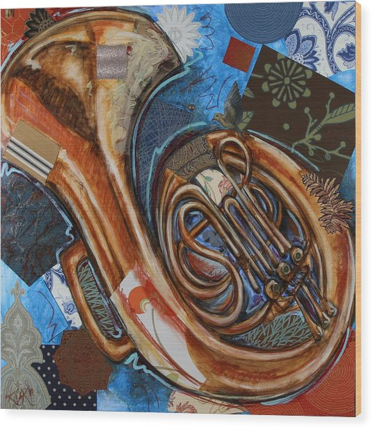 Fa The French Horn Wood Print