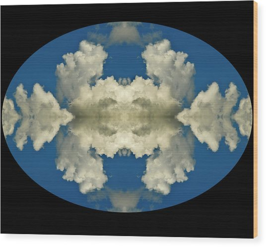 Face In Clouds At The Air Race Wood Print by Russ Lopez