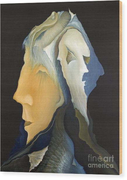 Facets Wood Print by Joanna Pregon