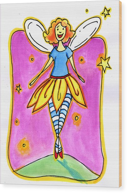Fairy Note Wood Print