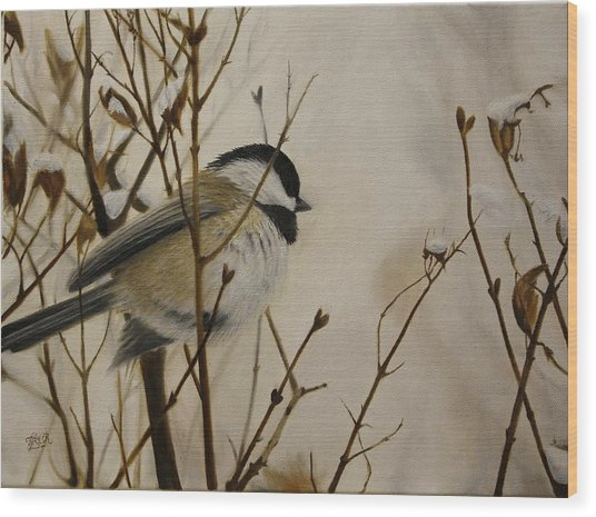 Faithful Winter Friend Wood Print