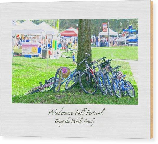 Fall Festival Wood Print