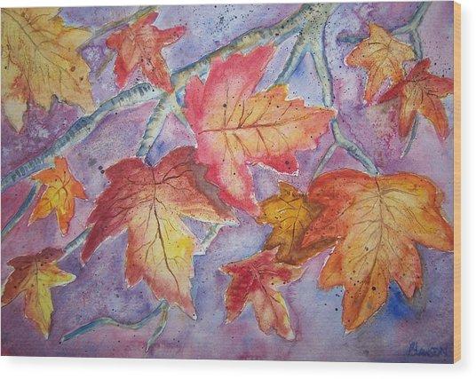 Fall In Arkansas Wood Print