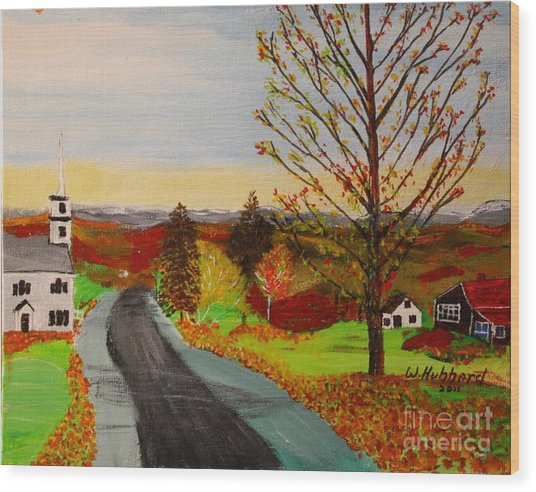 Fall In New Hampshire Wood Print