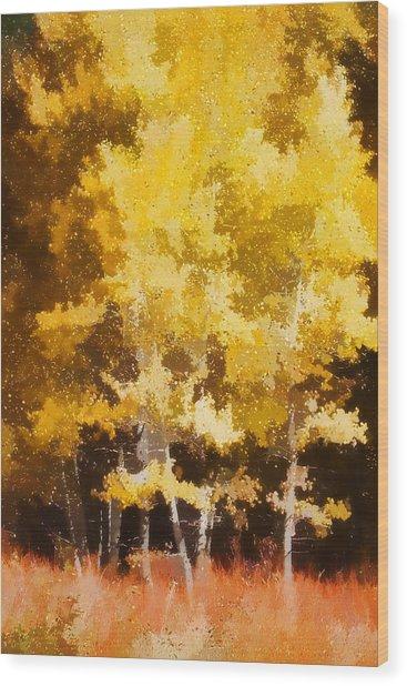 Fall In The Sierra II Wood Print