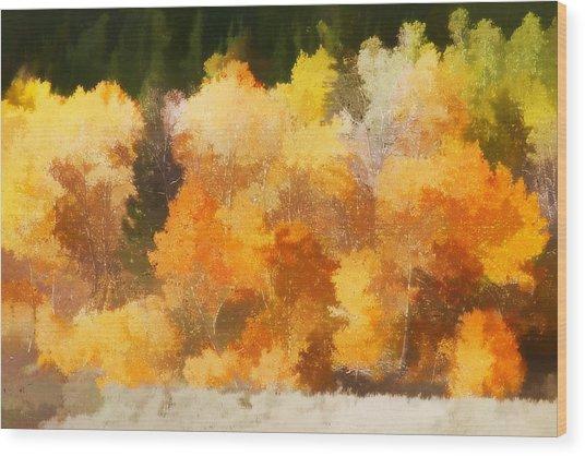Fall In The Sierra IIi Wood Print