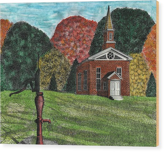 Fall Is Coming Wood Print by Mike OBrien