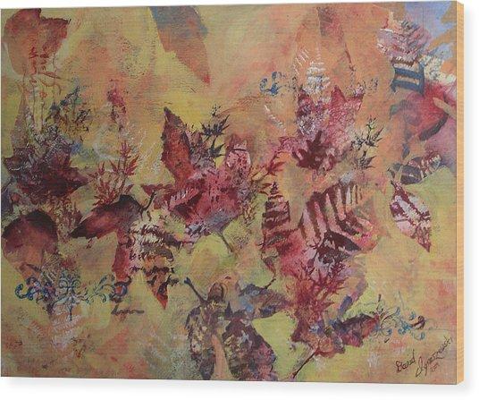 Fall Maples Wood Print by David Ignaszewski