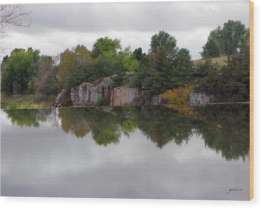 Fall Scene At Split Rock State Park Wood Print
