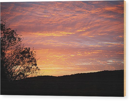 Fall Sunrise Wood Print
