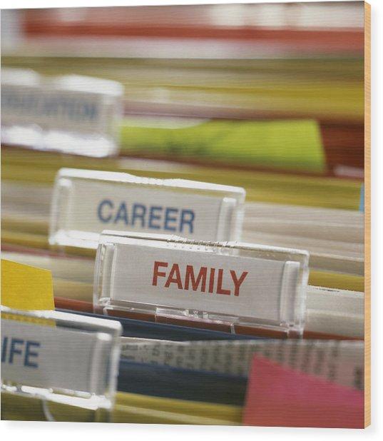 Family Before Career Wood Print by Tek Image