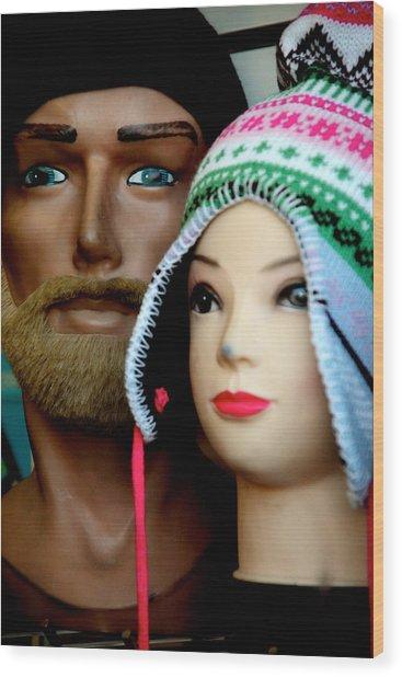Family Hats Wood Print by Jez C Self