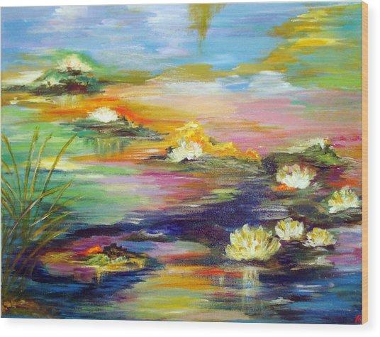 Fantasy Pond Wood Print
