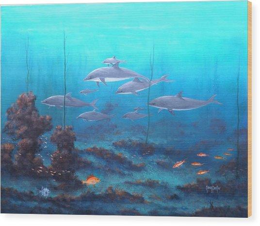 Fantasy Reef Wood Print