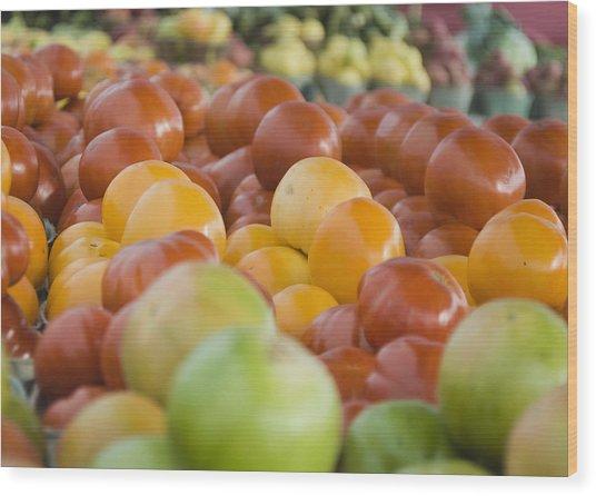 Farmers Market - 011 Wood Print