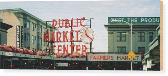 Farmer's Market Wood Print