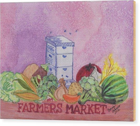 Farmers Market No.3 Wood Print