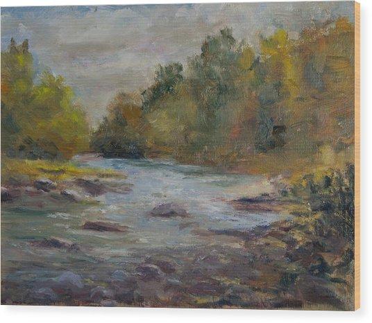Farmington River September Wood Print