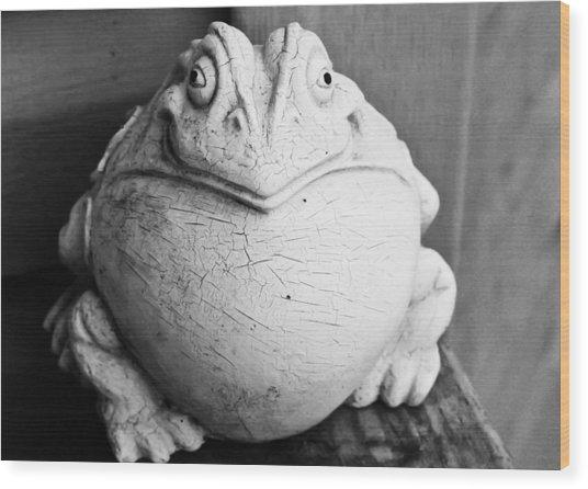 Fat And Happy Wood Print