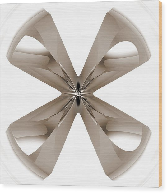 Wood Print featuring the digital art Faucet by Visual Artist Frank Bonilla