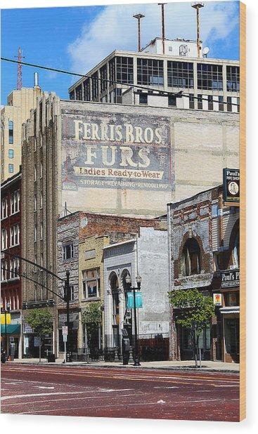 Ferris Brothers Furs Wood Print