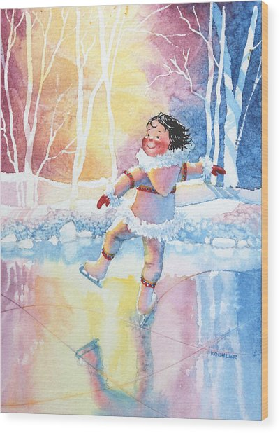 Figure Skater 13 Wood Print
