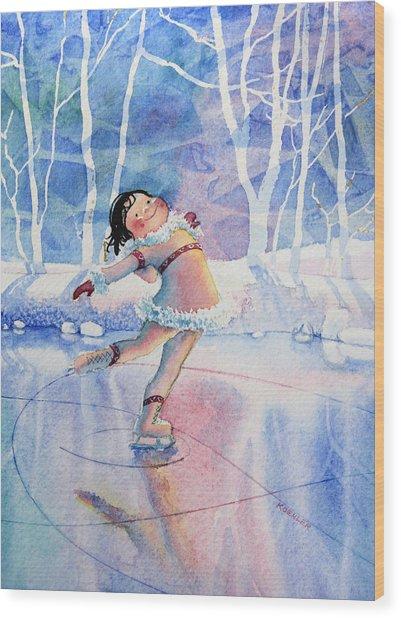 Figure Skater 14 Wood Print