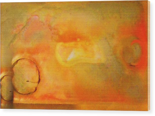 Fine Art Painting Original Ditital Abstract Palette Wood Print