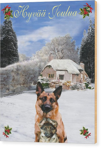 Premise Indicator Words: Finish Holiday German Shepherd And Puppy Mixed Media By