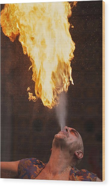 Fire Eater 2 Wood Print