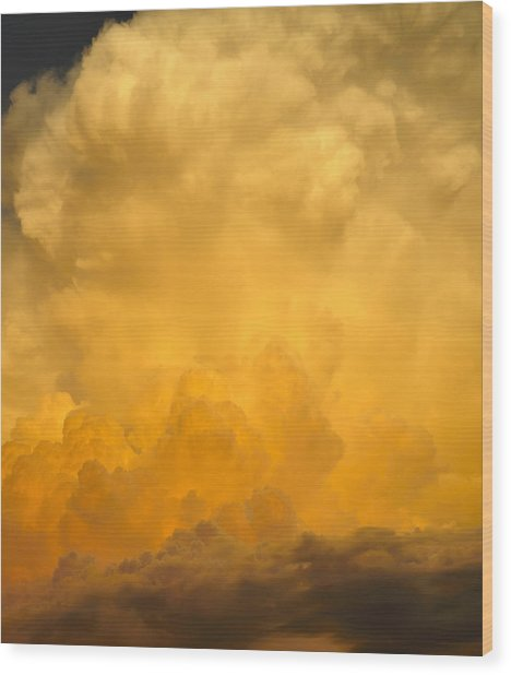 Fire In The Sky Fsp Wood Print