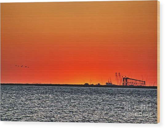 Fire In The Sky Wood Print by Ken Williams