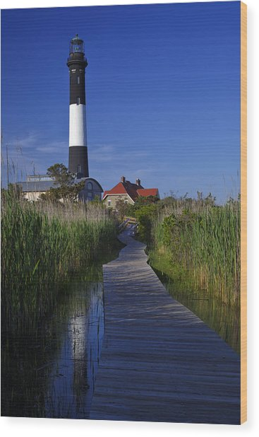 Fire Island Reflection Wood Print