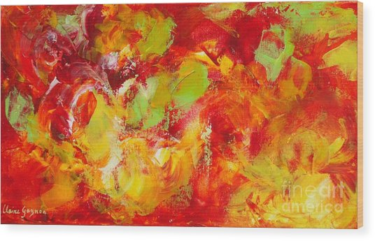 Fireball Wood Print