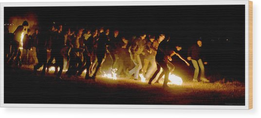Fireball Game Wood Print by Mark Ivins