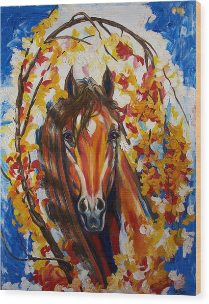 Firefall Horse Wood Print